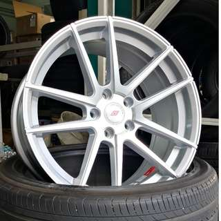 "IFG25 18"" Silver Full Polished 5X112 (volkswagen)"