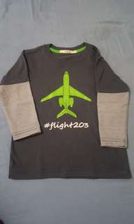 JusTees Airplane Longsleeves