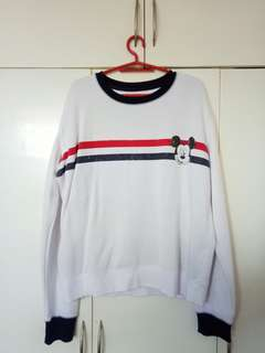 White Mickey Mouse Sweater