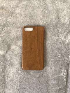 Iphone 7+/8+ case (wood pattern) good condition, like new