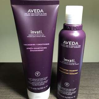 Brand New Aveda - Invati Hair Loss Shampoo and Conditioner