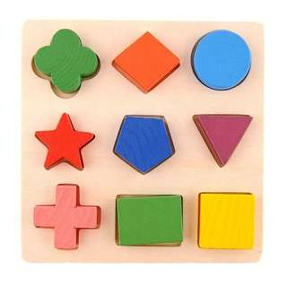 Wooden puzzle shape