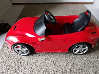 Battery operated rechargeable toy car