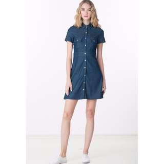 [Ninth Collective] Megan Denim Shirt Dress