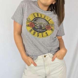 Grey Guns N' Roses Graphic Tshirt