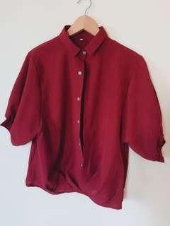 Korean maroon blouse