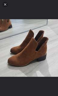Brown Chelsea Suede Boots