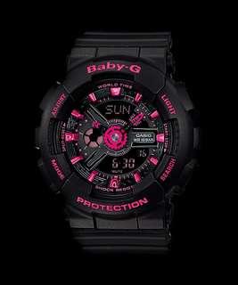 Baby G watch BA-111-1ADR