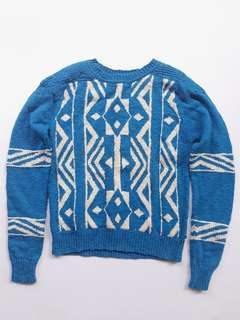 Forever21 blue printed pullover
