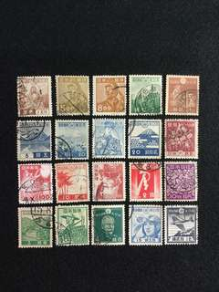 Japan 1930s-1940s Lot of 20 pcs