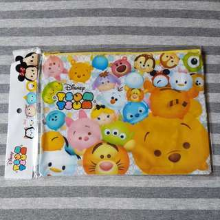 Disney Japan Tsum Tsum A5 File Zip Pouch Bag (Design B)