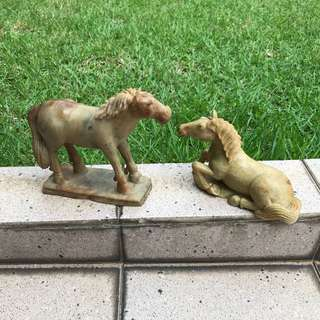 Pair of marble horses
