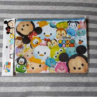 Disney Japan Tsum Tsum A5 File Zip Pouch Bag (Design A)