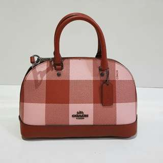 Coach Mini Sierra Plaid Red