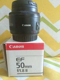 Lensa Canon EF 50mm f/1.8 ll