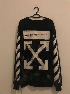Off white galaxy Pullover