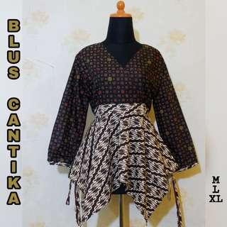 Top Batik Handprint M L XL