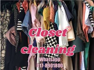 Closet cleaning sale