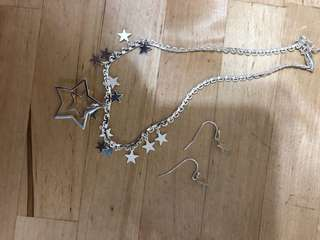 Star collection set earrings and necklace (included postage)