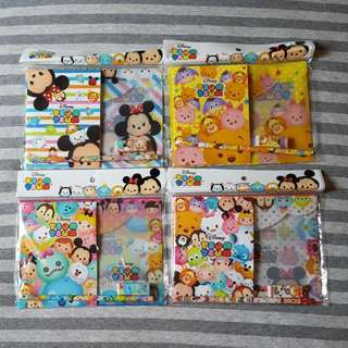 [4 Designs!] Japan Disney Tsum Tsum Stationery Set