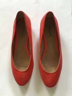 TOPSHOP Red City Flats