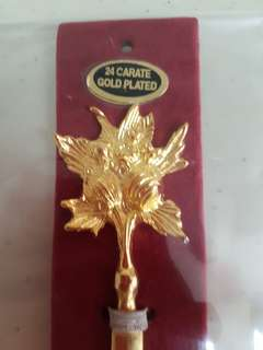 24 Carate Gold Plated Letter Opener