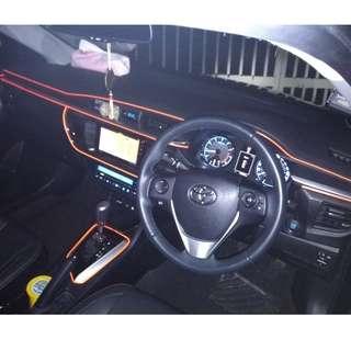 Car Interior Fiber optics atmosphere lights