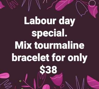 Labour day special...mix tourmalinw bracelet at only $38