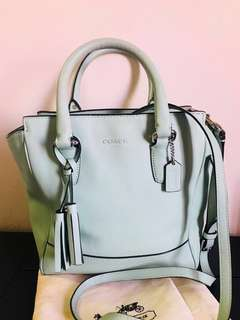 Preloved Authentic COACH Legacy Mini Tanner in Mint