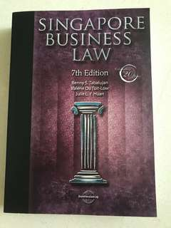 Singapore business law by Tabalujan, B., Toit-Low, V. & Huan, J. (7th ed.)(2015). Businesslaw.sg