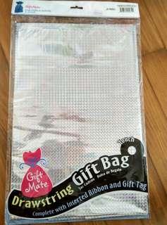 Diamond Holographic Drawstring Gift Bag (Jumbo)