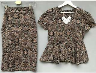 One set Batik Peplum and skirt Batik