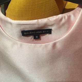Cut Label silk top