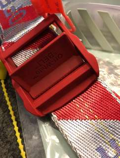 Off white red belt - 200 cm