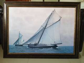 Sailing boat paintings