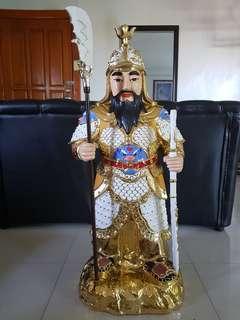 Golden samurai emperor figurine