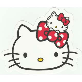 [Thick Version] Sanrio Hello Kitty Go Around Singapore Gotochi Shaped Thick Postcard - Kitty