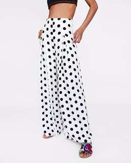 European and American women's new pleated decorative dot pants