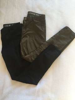 Black/Army Green Jeggings