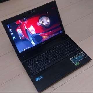 🚚 15.6吋 ASUS B53S i7二代2670QM / 獨顯 時尚黑 多功能旗艦機 8G + 1TB 筆電 ( Notebook / Laptop ) !!