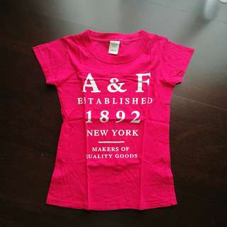 Abercrombie & Fitch Pink T Shirt