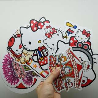 [Thin Version] Set of 8 - Sanrio Original Singapore Hello Kitty Go Around Postcard Set (Thin 400gsm)