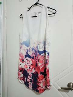 Dress white and floral