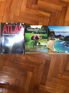 Geography Textbooks ATLAS Singapore and the world human physical geography upper secondary