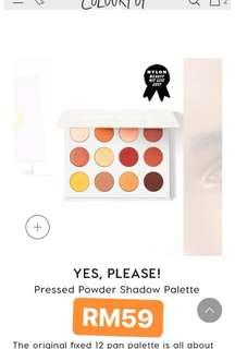 Preorder Colourpop eyeshadow palette #20under