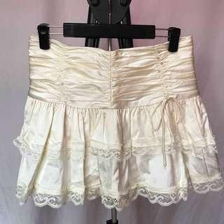 🚚 米白色氣質短裙
