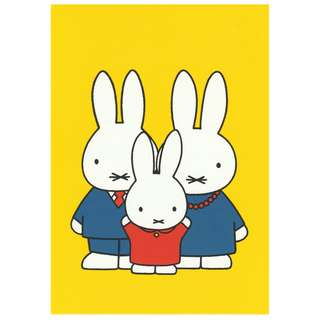 Miffy (Nijntje) Postcard - Brand new & original from Holland (Family)