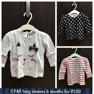 F&F baby long sleeves top take 3 for 250