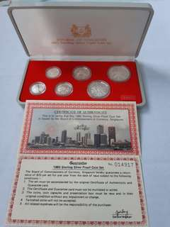 1985 to 1990 Sterling Silver Proof Coin Set