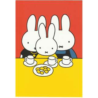 Miffy (Nijntje) Postcard - Brand new & original from Holland (Family Meal)